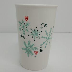 Starbucks Double Wall Ceramic 8 oz Travel Mug